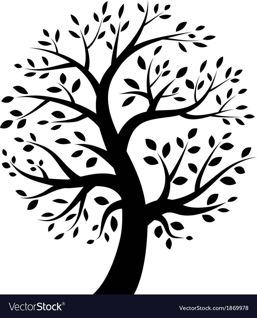 Stylized tree icon vector | Price: 1 Credit (USD $1)