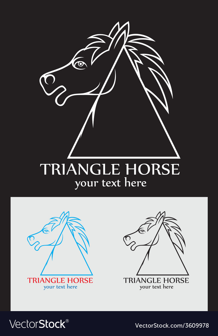 Triangle horse vector | Price: 1 Credit (USD $1)