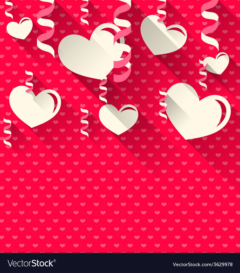Valentines day background with paper hearts and vector | Price: 1 Credit (USD $1)