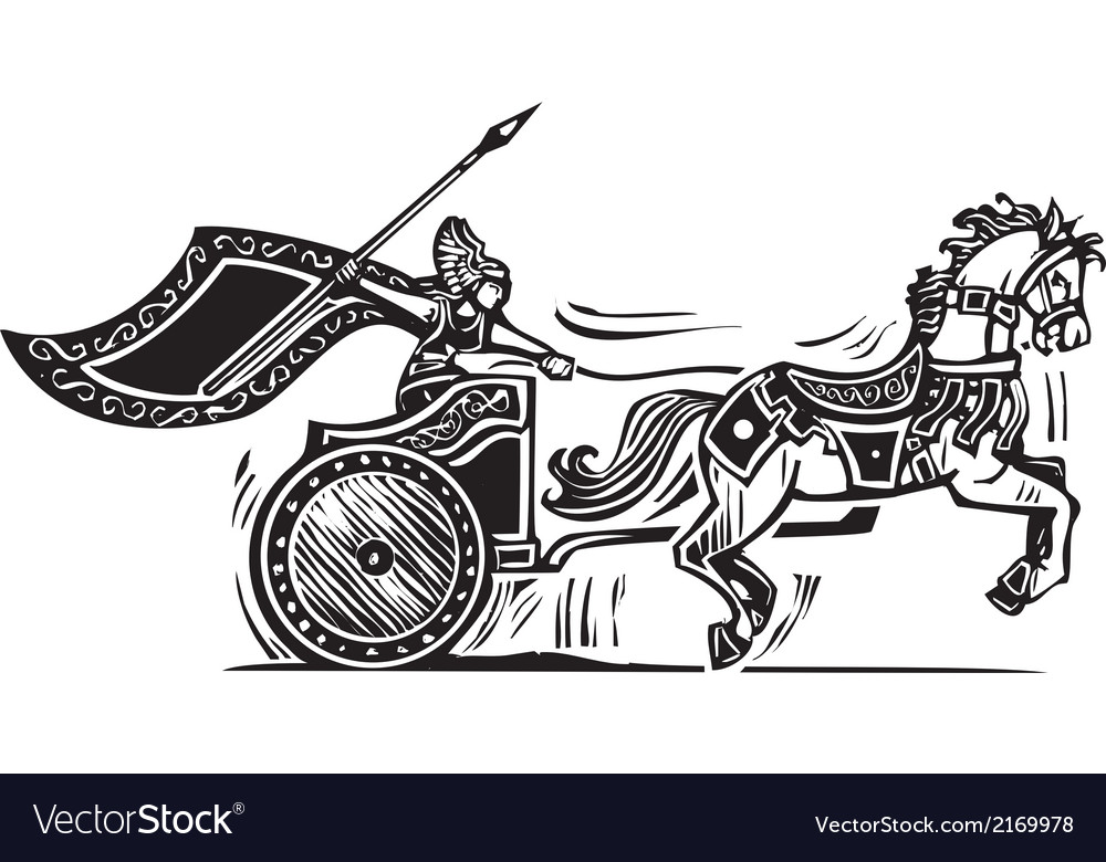 Valkyrie chariot vector | Price: 1 Credit (USD $1)