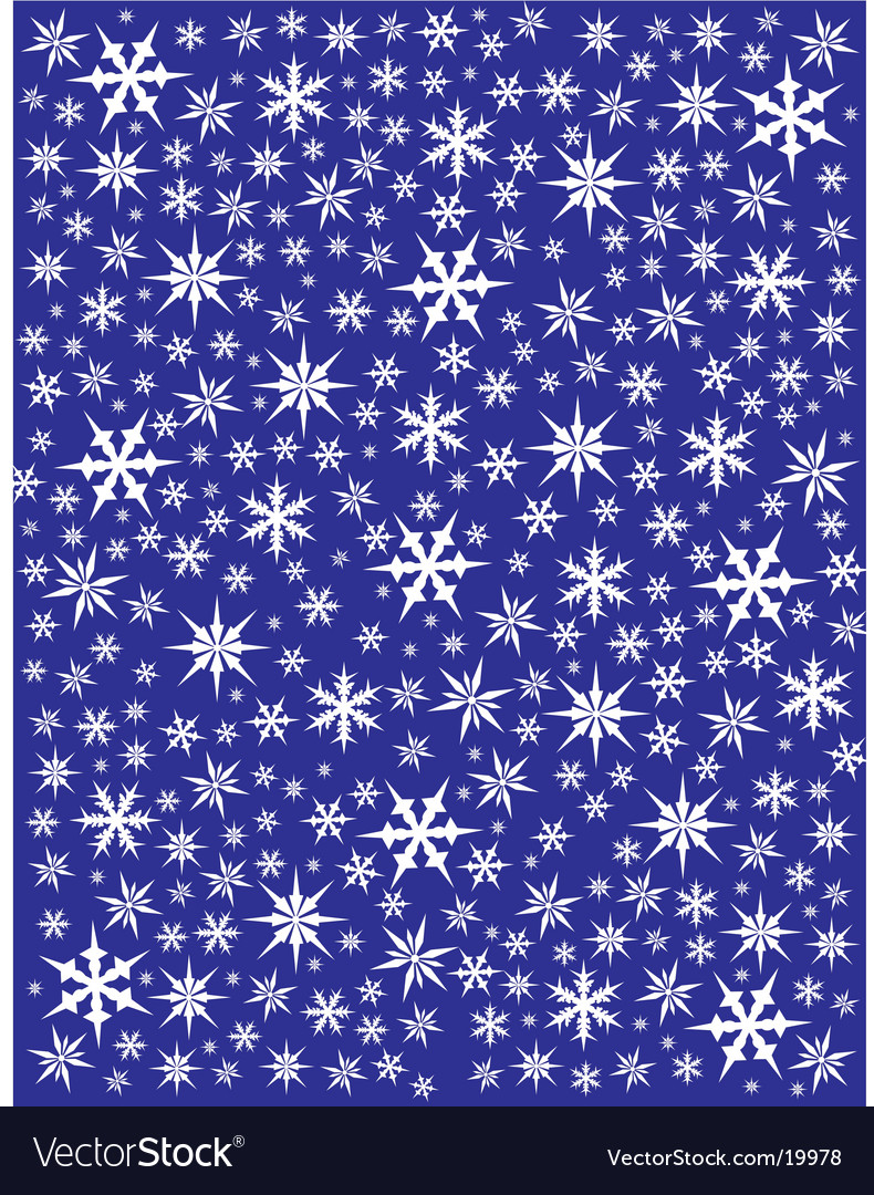 White snowflakes on blue vector | Price: 1 Credit (USD $1)