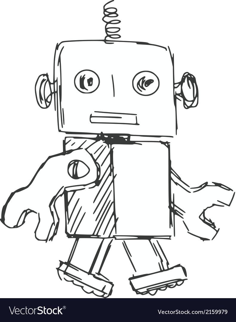 Children robot vector | Price: 1 Credit (USD $1)