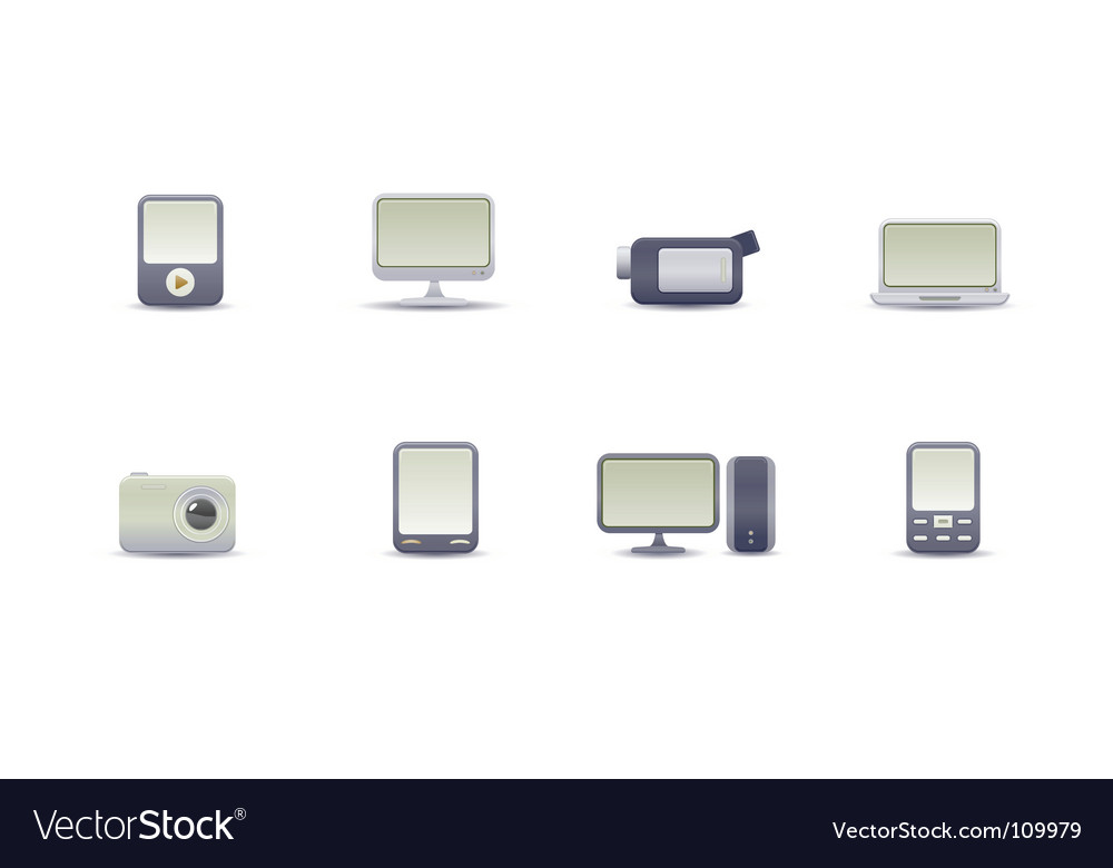 Digital media devices vector | Price: 1 Credit (USD $1)