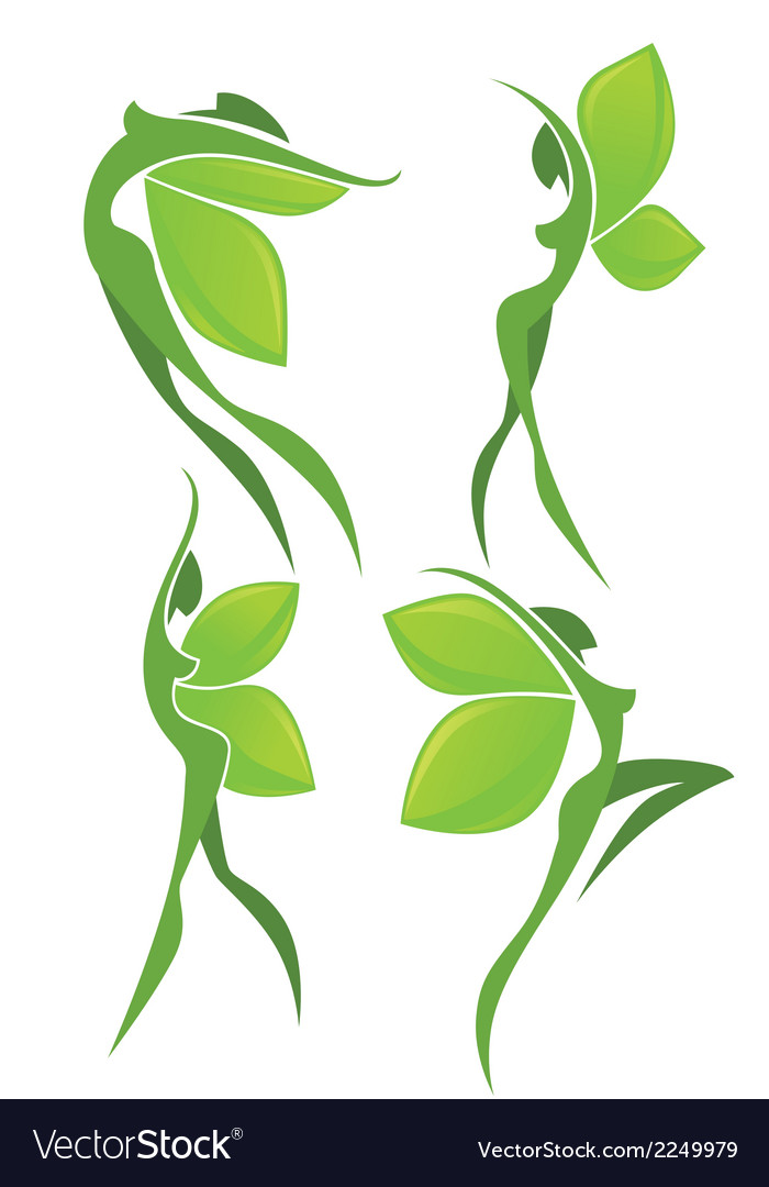 Eco beauty vector | Price: 1 Credit (USD $1)