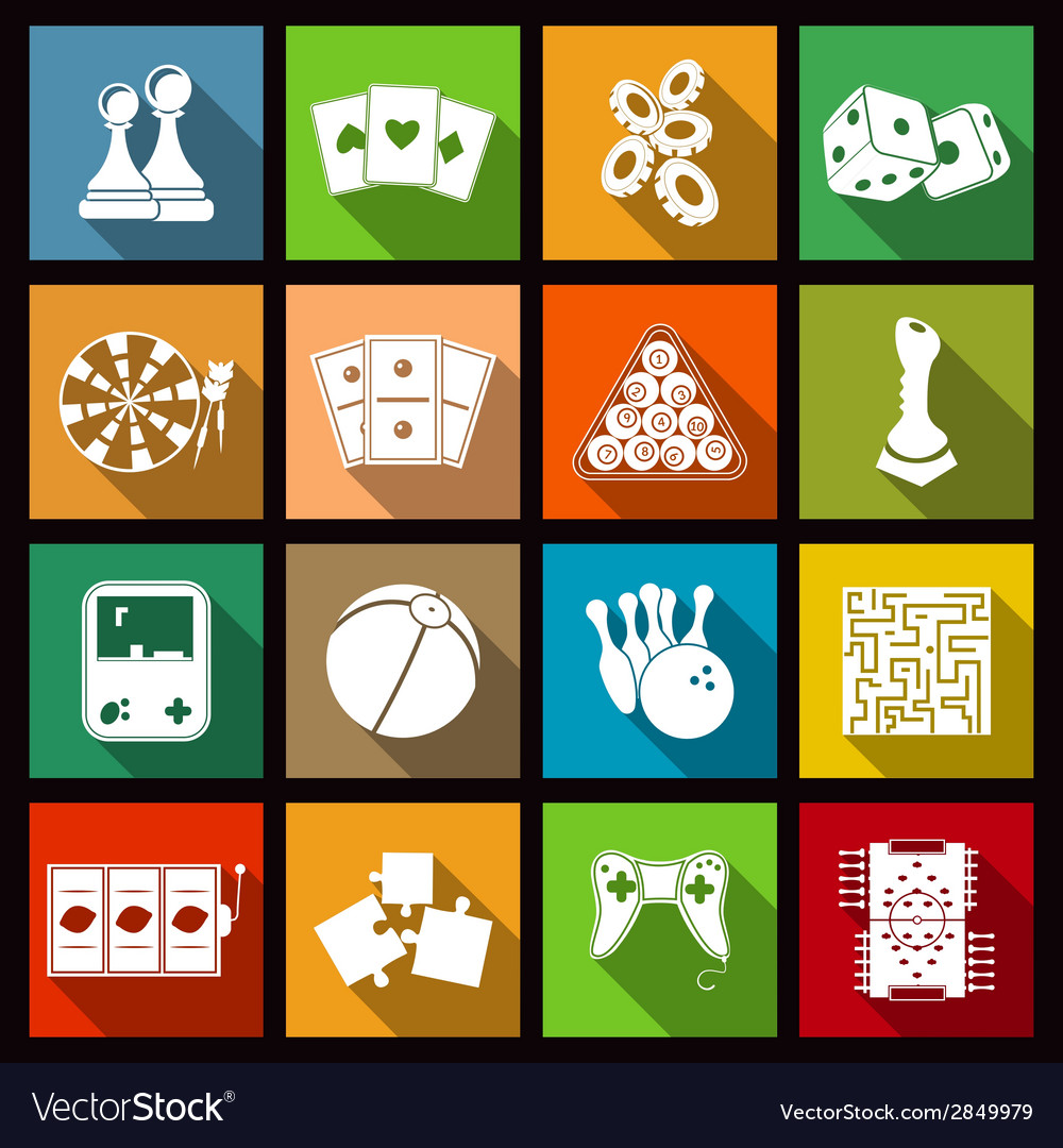 Game icons set vector | Price: 1 Credit (USD $1)