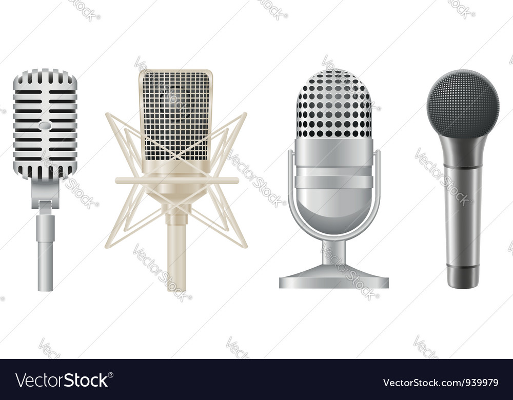 Microphone 05 vector | Price: 1 Credit (USD $1)