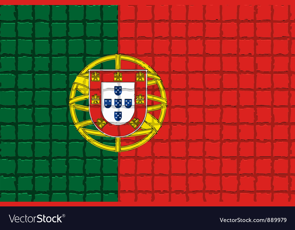 The mosaic flag of portugal vector | Price: 1 Credit (USD $1)