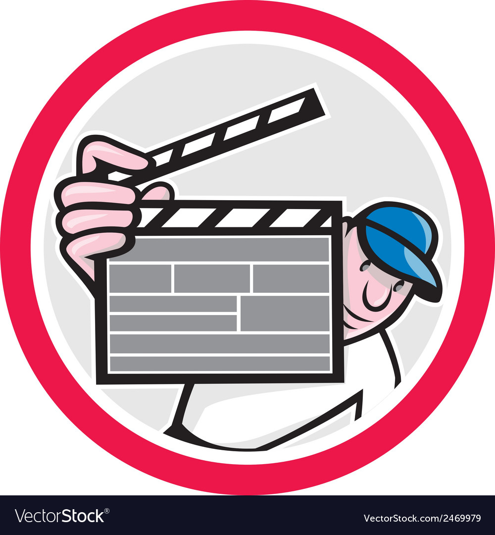 Movie director holding clipboard cartoon vector | Price: 1 Credit (USD $1)