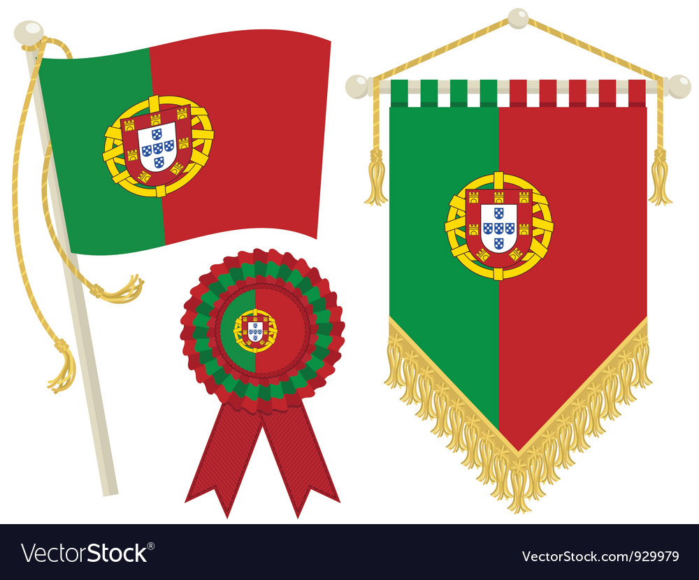Portugal flags vector | Price: 1 Credit (USD $1)