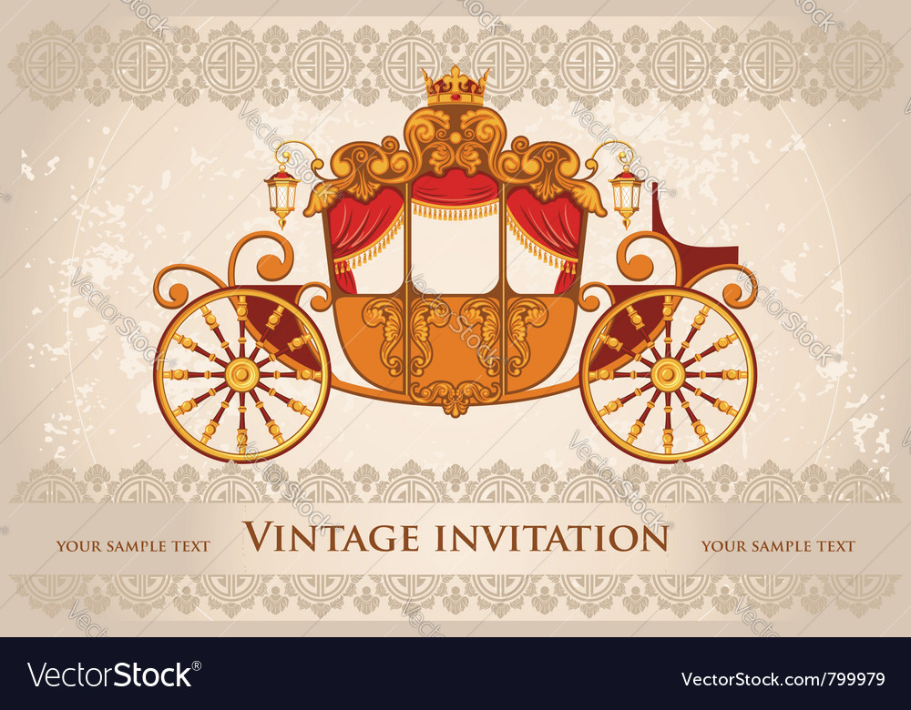 Royal carriage vector | Price: 1 Credit (USD $1)