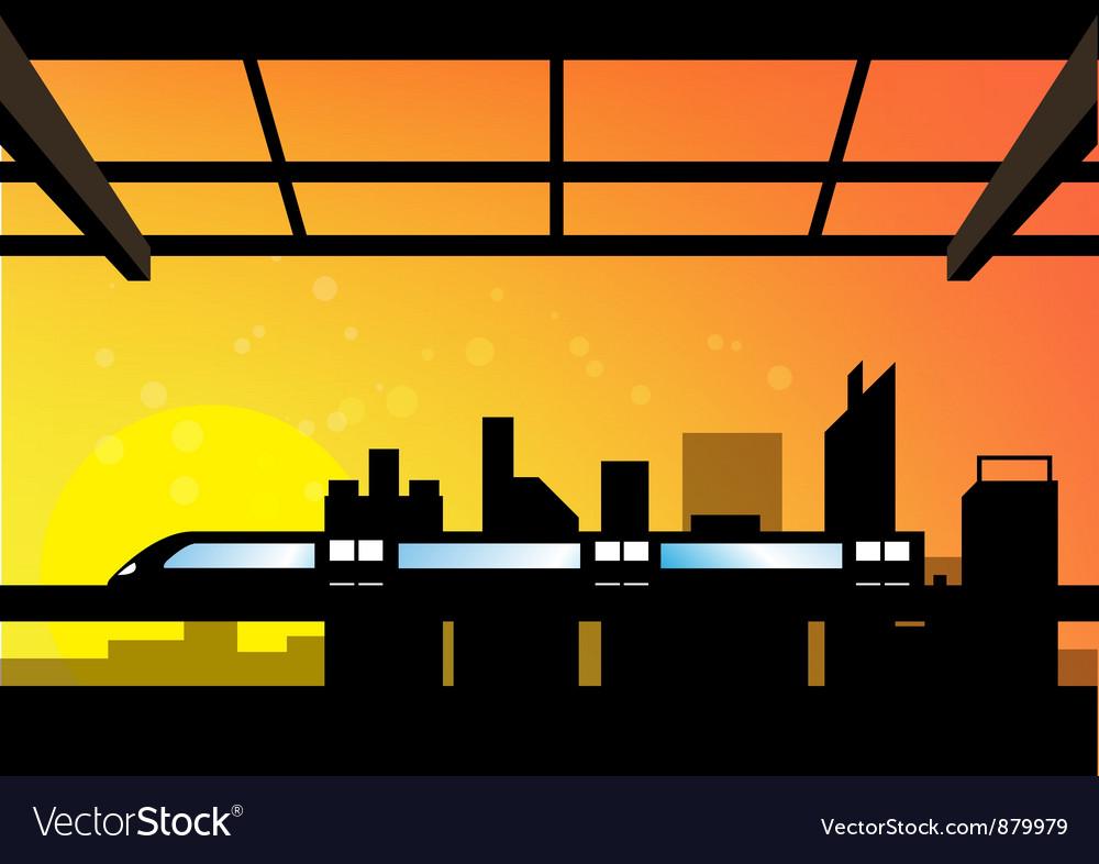 Scene of cityscape vector   Price: 1 Credit (USD $1)