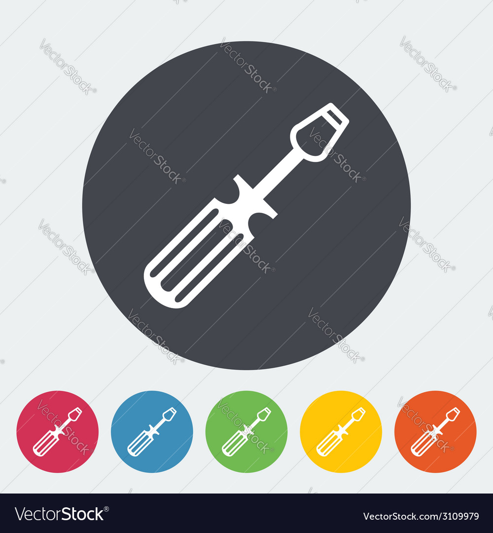 Screwdriver single icon vector | Price: 1 Credit (USD $1)
