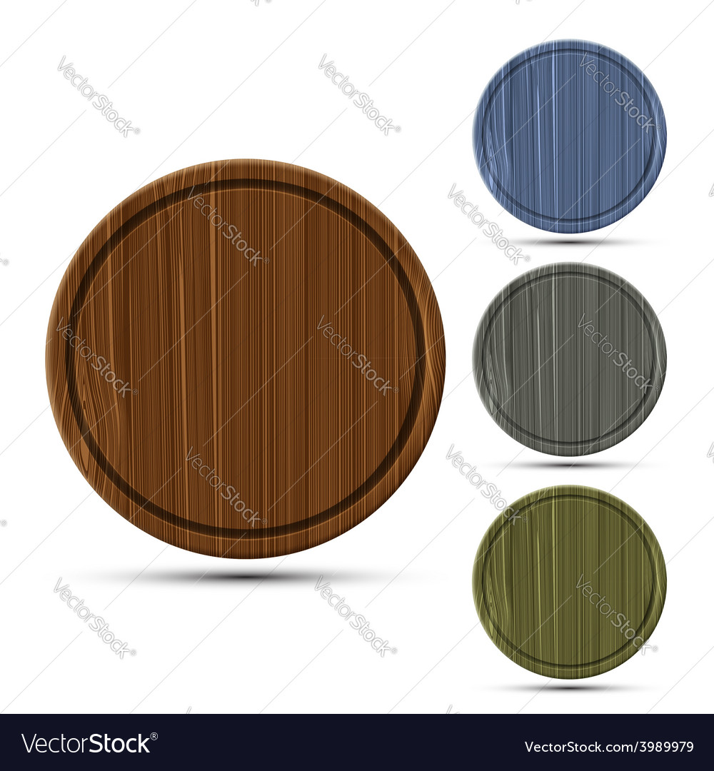 Set of round kitchen boards vector   Price: 1 Credit (USD $1)