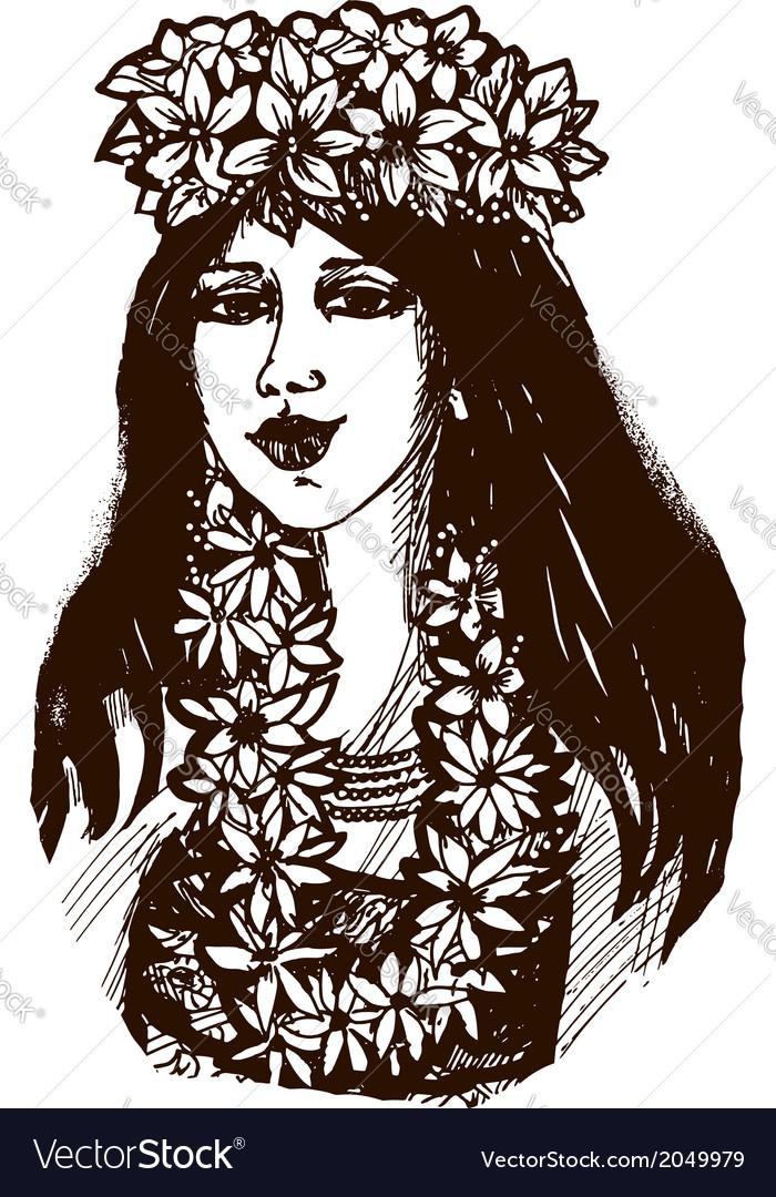 Tahiti girl vector   Price: 1 Credit (USD $1)