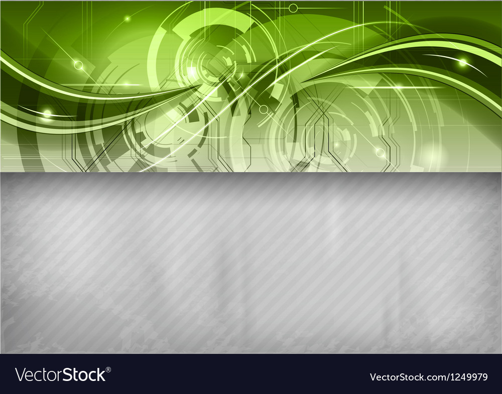 Tech background line top green vector | Price: 1 Credit (USD $1)