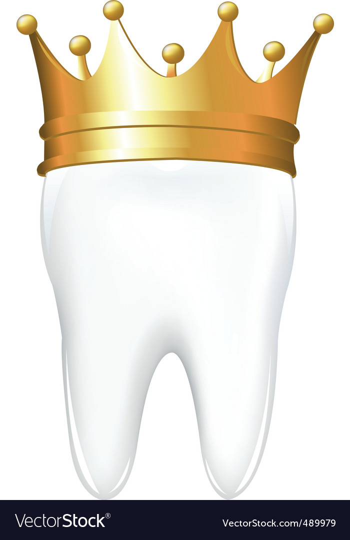 Tooth in crown vector | Price: 1 Credit (USD $1)