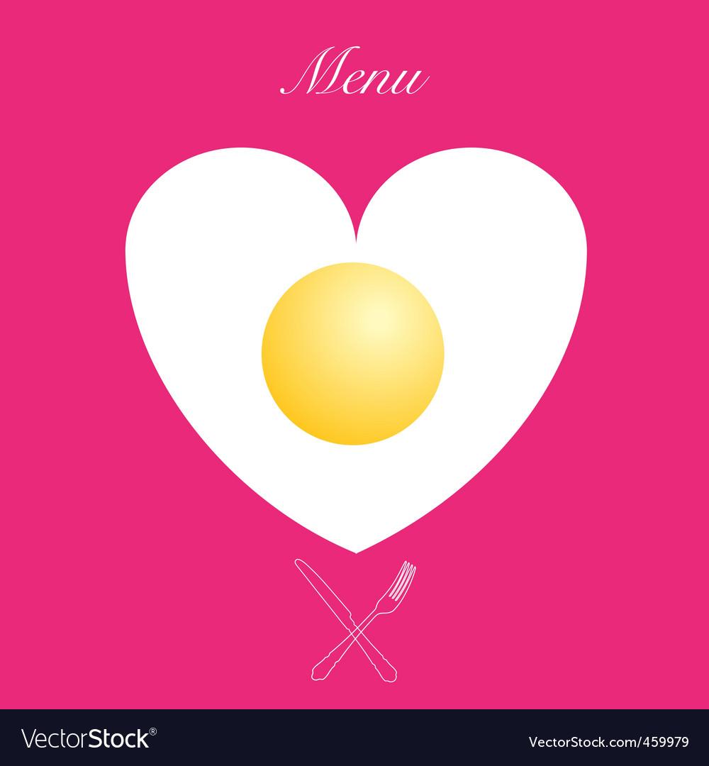 Valentines menu print vector | Price: 1 Credit (USD $1)