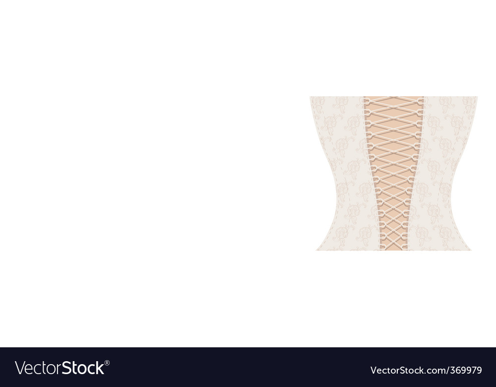 White corset with ribbon vector | Price: 1 Credit (USD $1)