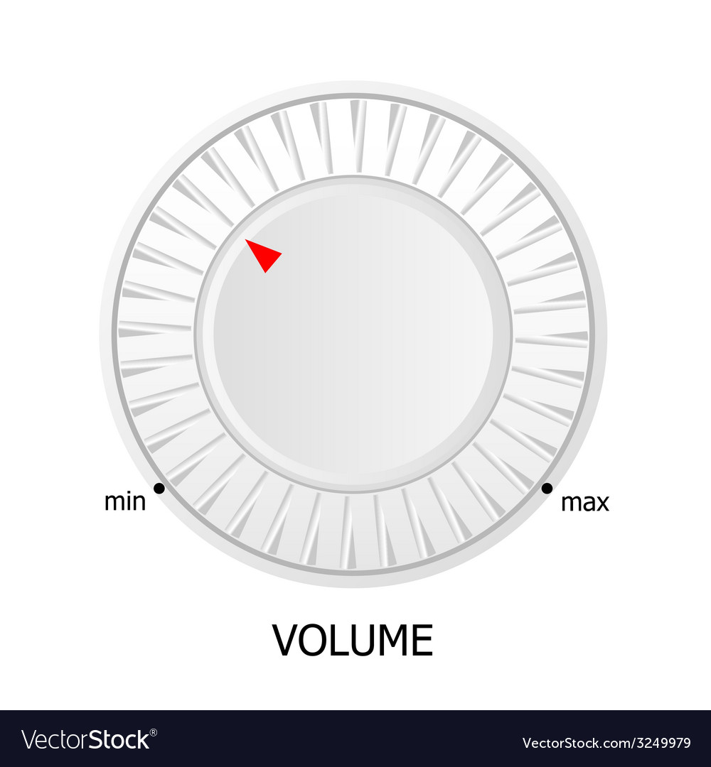 White volume knob vector | Price: 1 Credit (USD $1)
