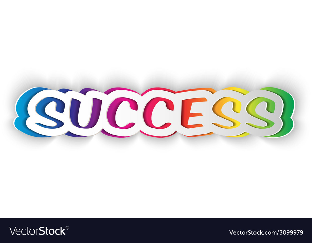 Word success cut from paper vector | Price: 1 Credit (USD $1)