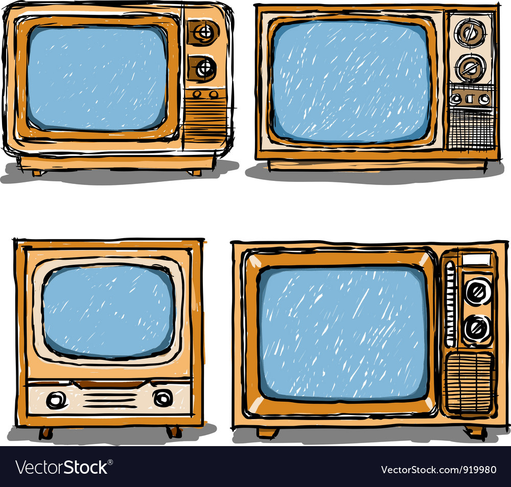Ancient television vector | Price: 1 Credit (USD $1)