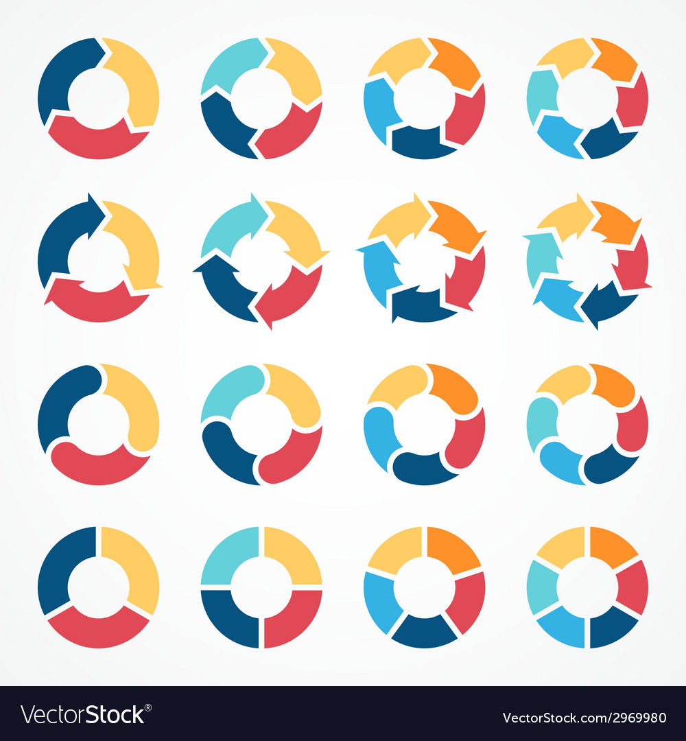 Circle arrows set for infographic template for vector | Price: 1 Credit (USD $1)