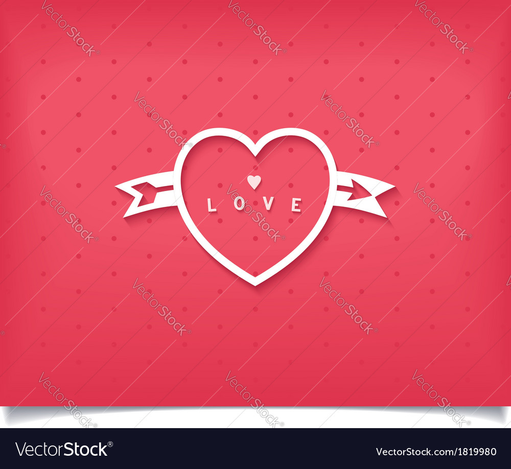Creative heart with an arrow and lettering vector   Price: 1 Credit (USD $1)