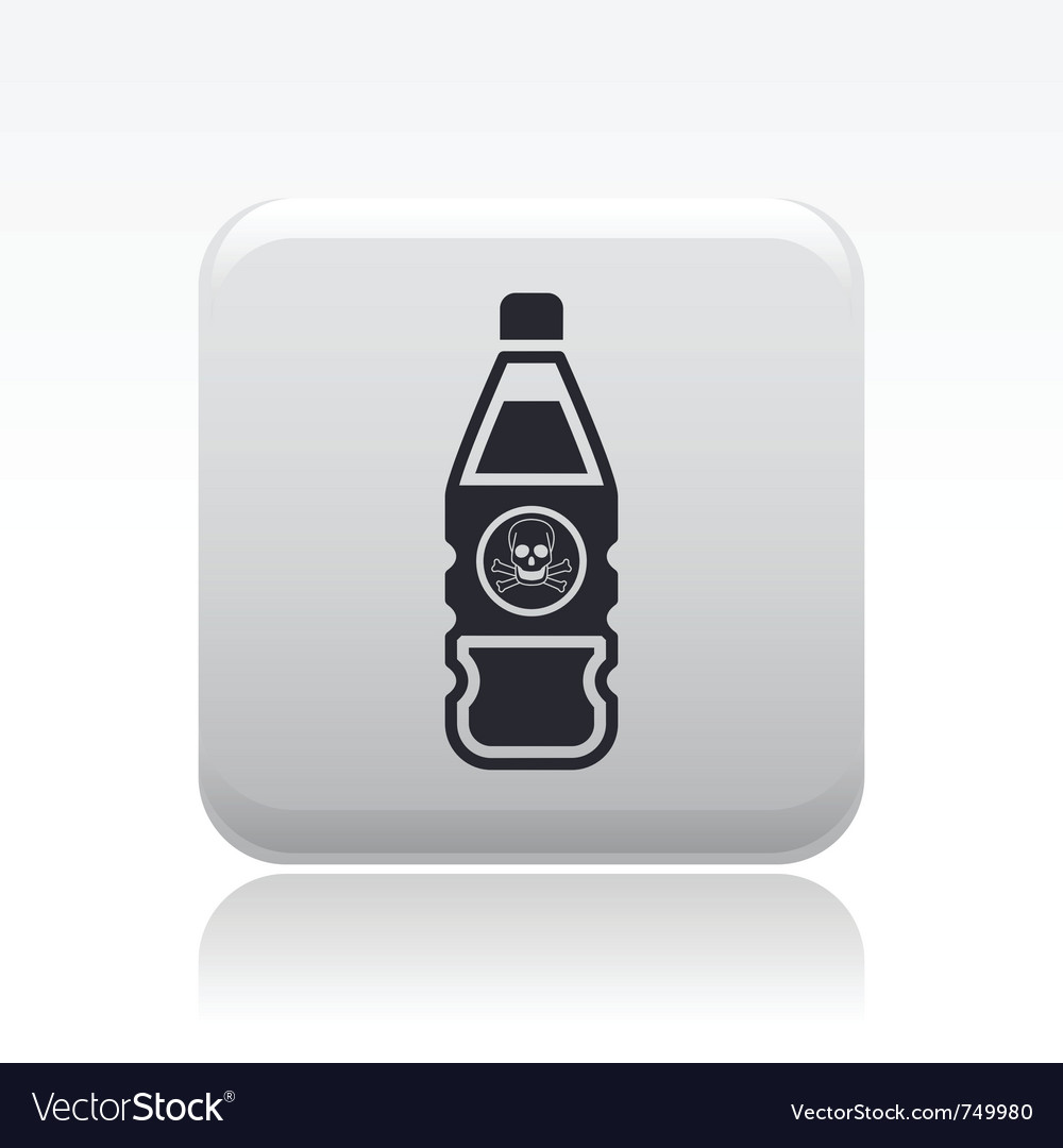 Danger bottle icon vector | Price: 1 Credit (USD $1)