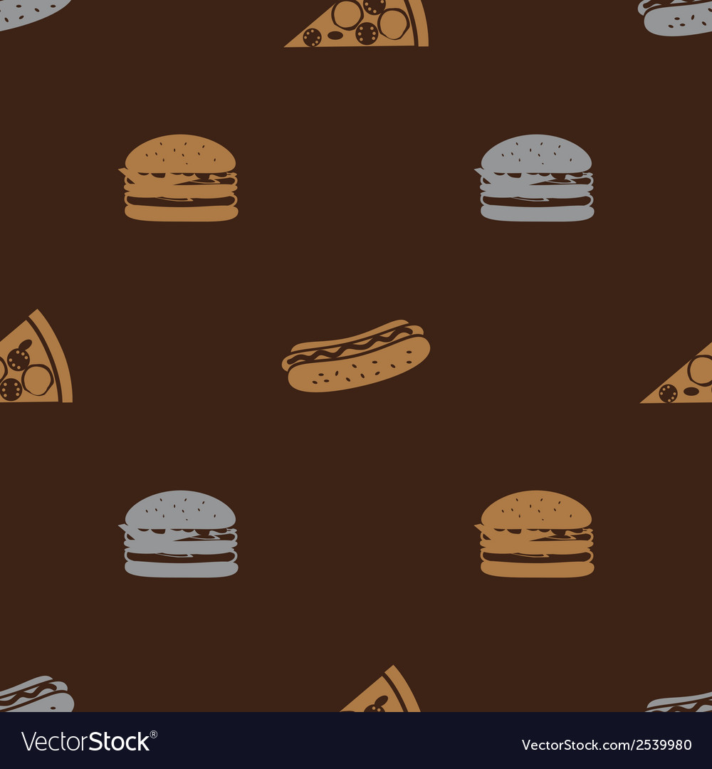 Fast food brown pattern seamless eps10 vector | Price: 1 Credit (USD $1)