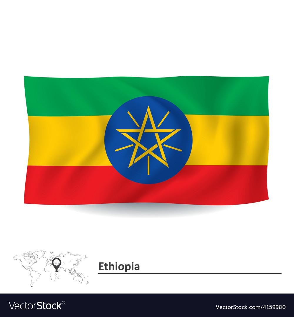 Flag of ethiopia vector | Price: 1 Credit (USD $1)