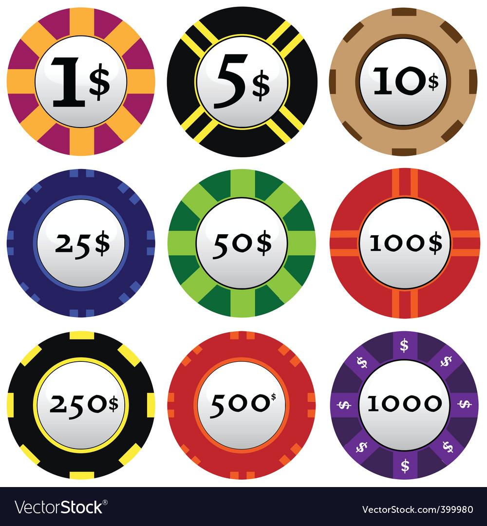 Gambling chips vector   Price: 1 Credit (USD $1)