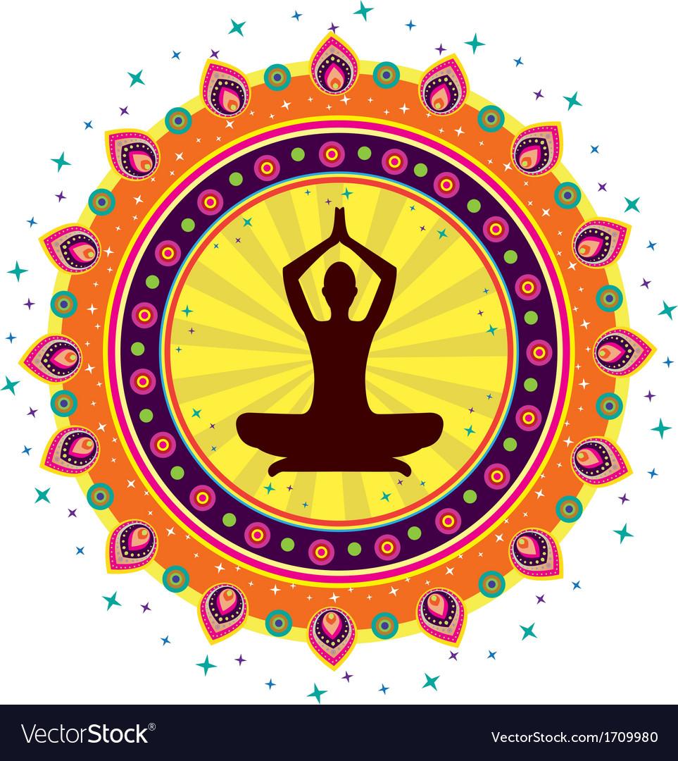 Geometric yoga design vector | Price: 1 Credit (USD $1)