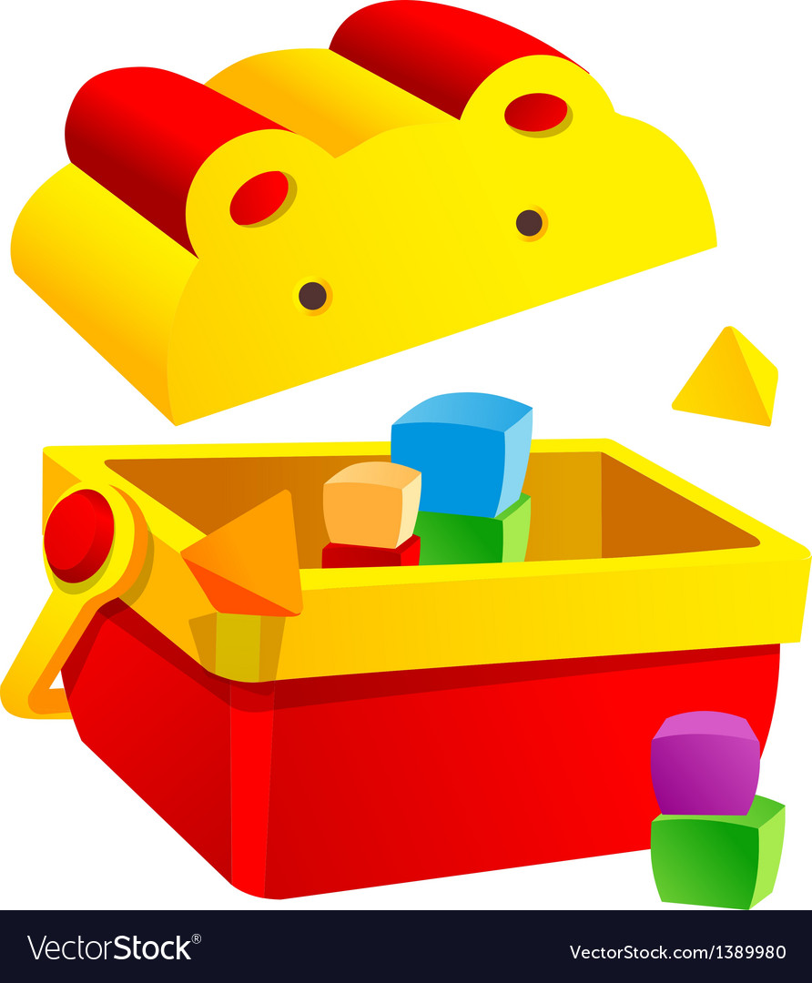 Icon block toy box vector | Price: 1 Credit (USD $1)