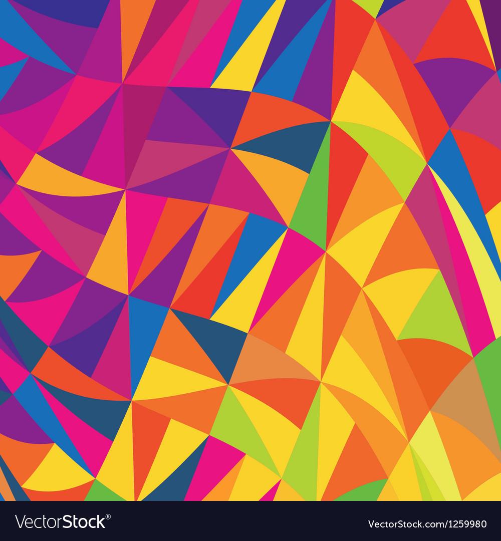 Multi colored triangles background vector | Price: 1 Credit (USD $1)