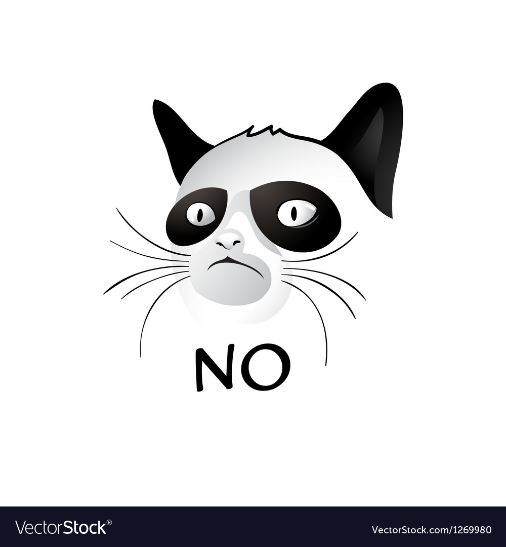 No cat vector | Price: 3 Credit (USD $3)