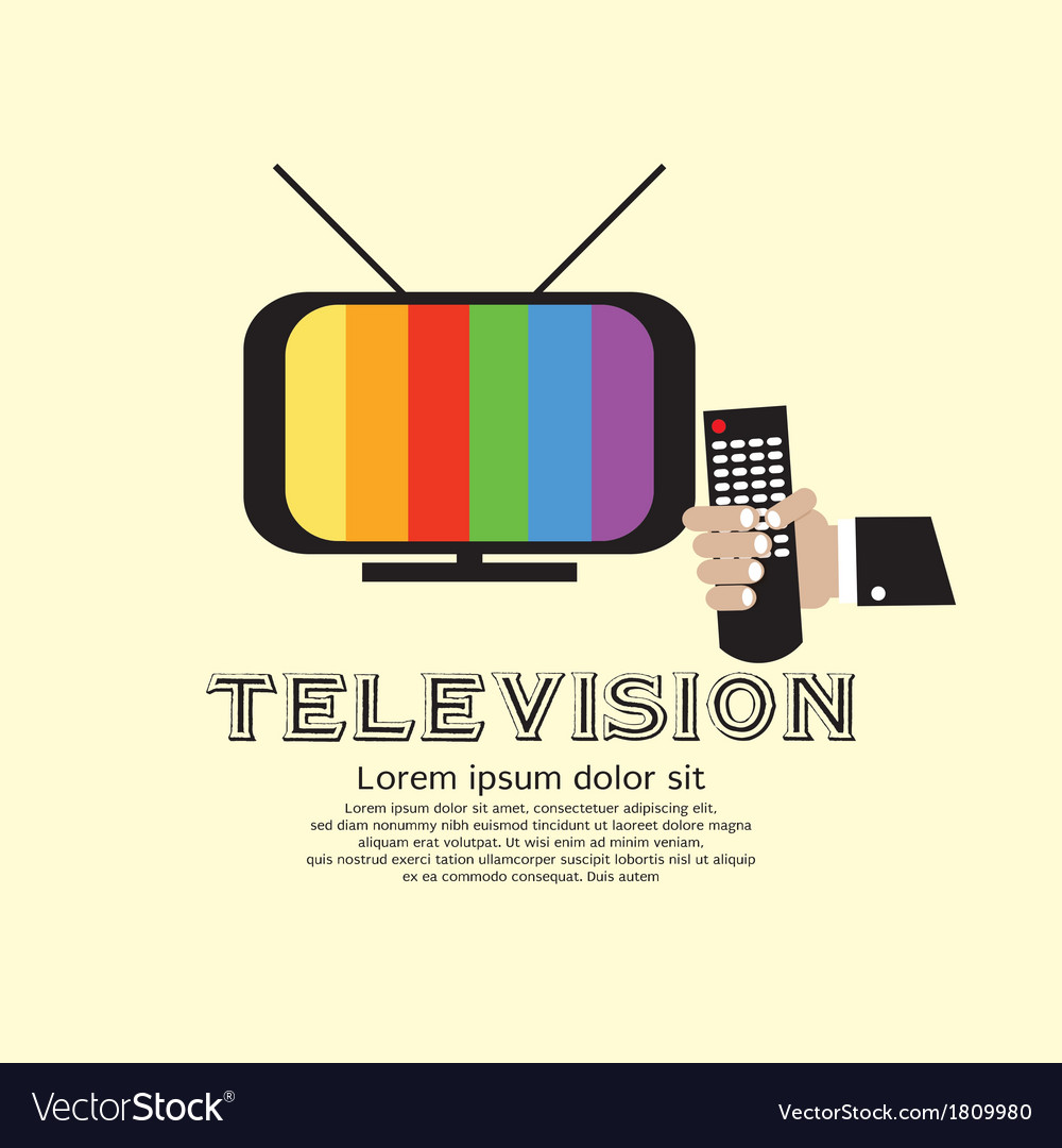 Retro television vector | Price: 1 Credit (USD $1)