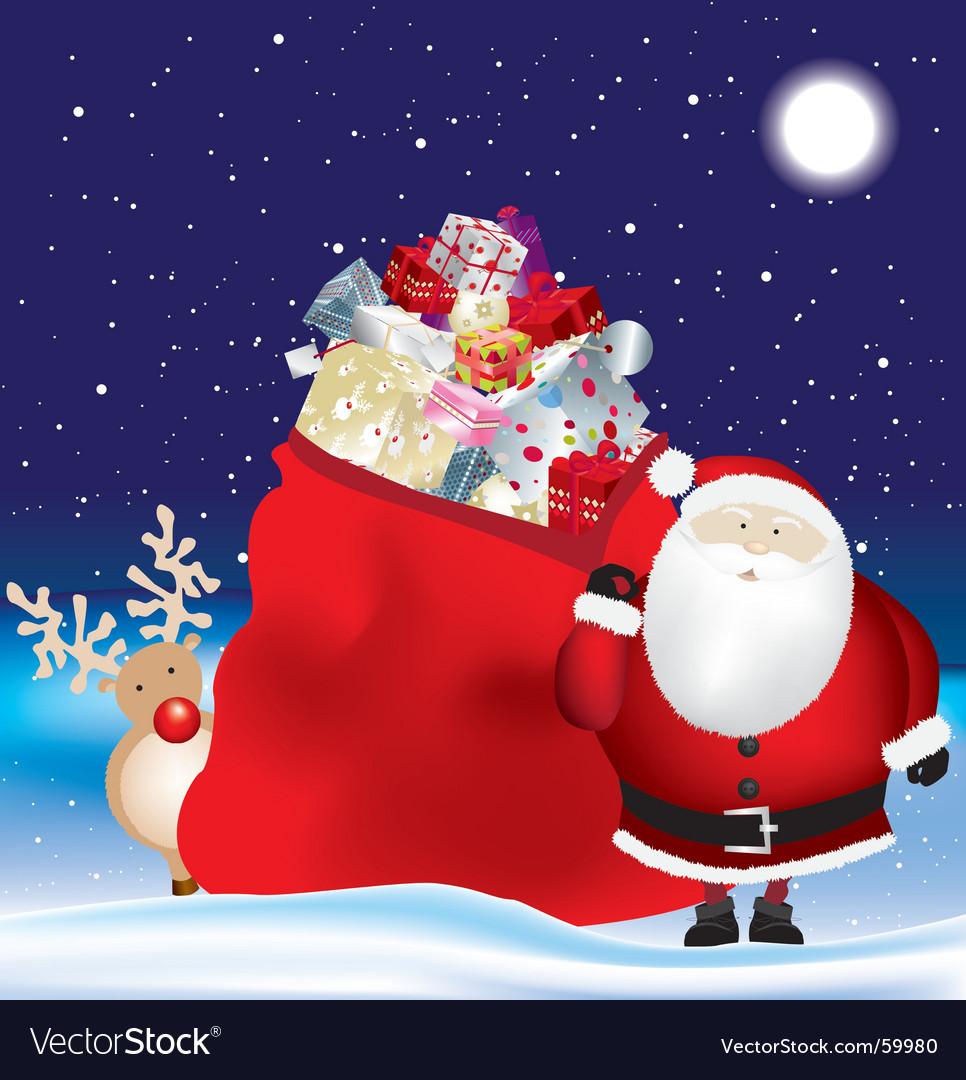 Santa's sack vector | Price: 1 Credit (USD $1)
