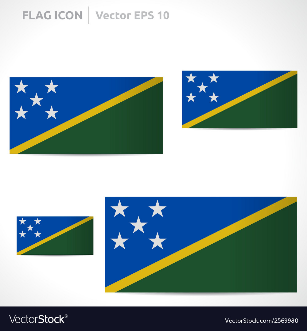 Solomon islands flag template vector | Price: 1 Credit (USD $1)