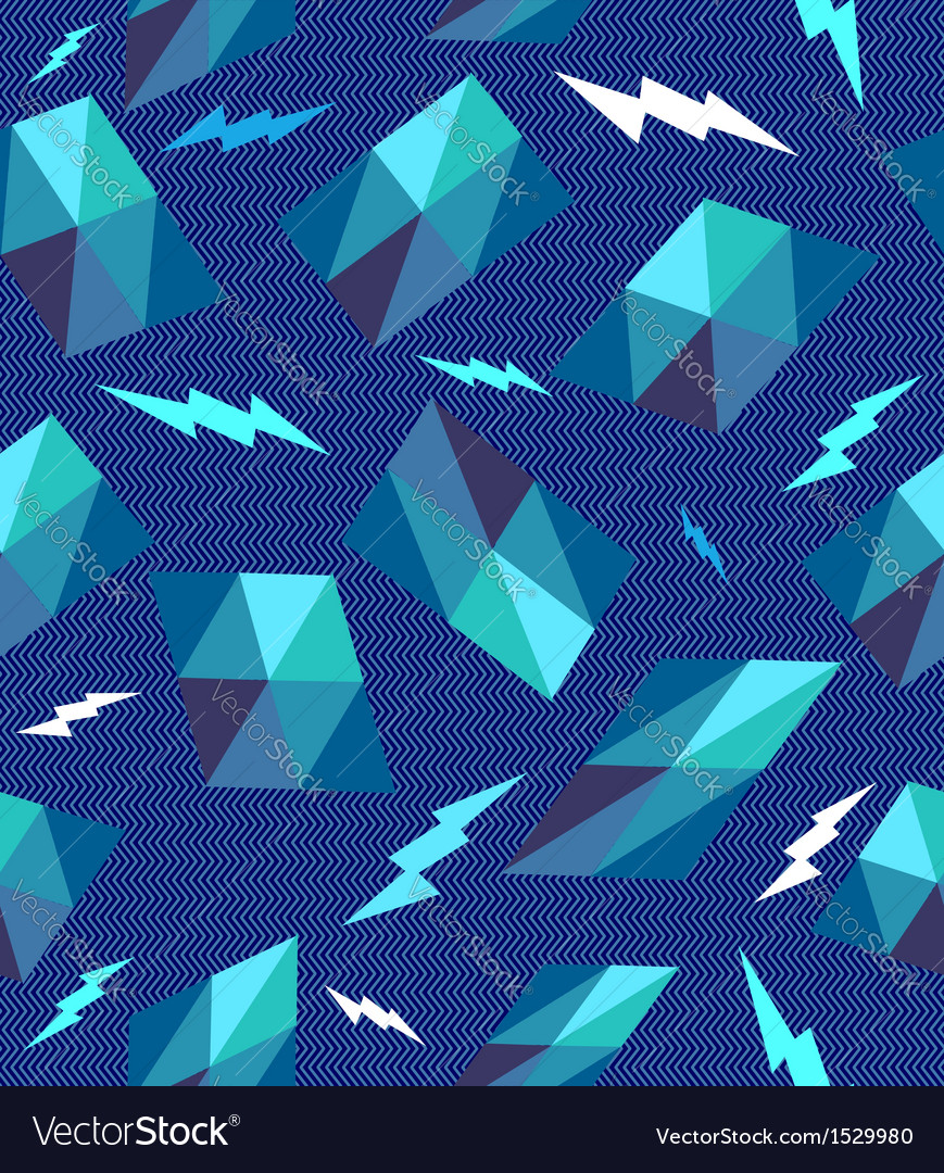 Trendy retro geometric seamless pattern vector | Price: 1 Credit (USD $1)