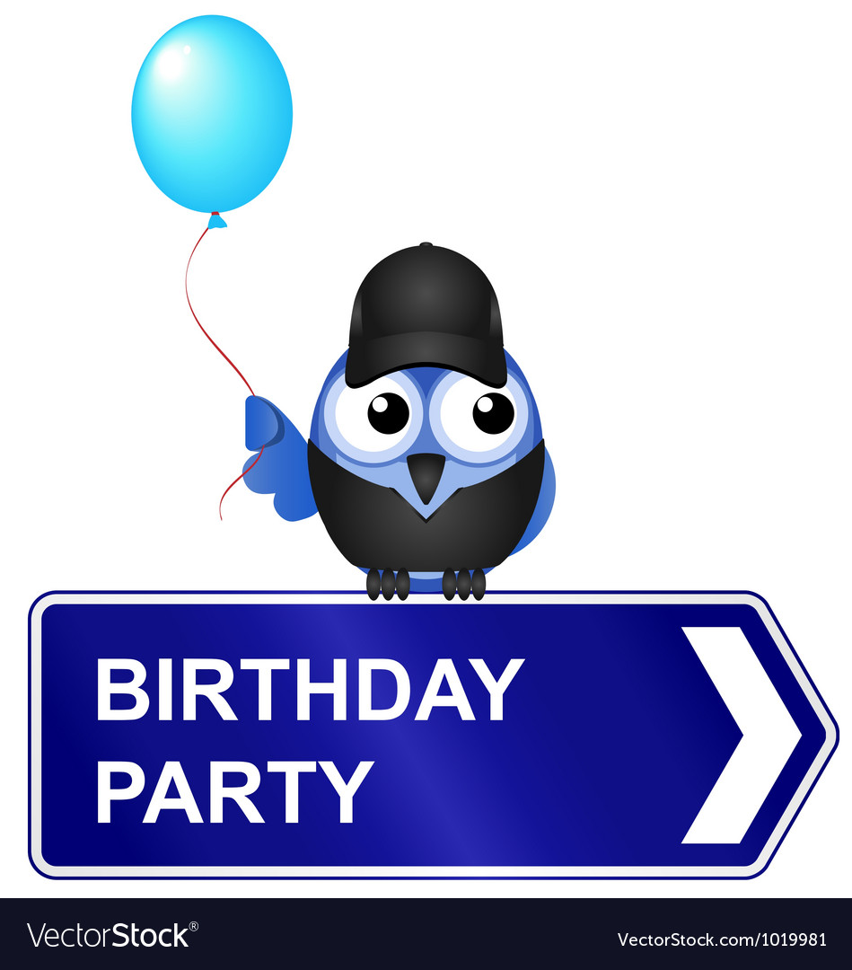 Birthday party sign vector | Price: 1 Credit (USD $1)