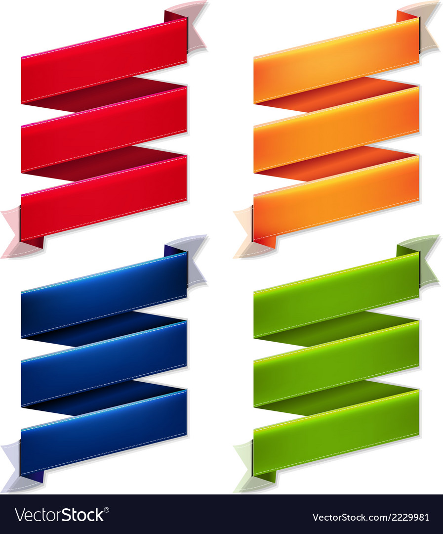 Color ribbon banners set vector | Price: 1 Credit (USD $1)