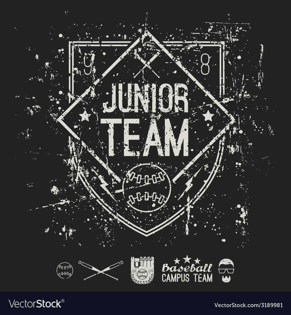Emblem baseball junior college team vector | Price: 1 Credit (USD $1)