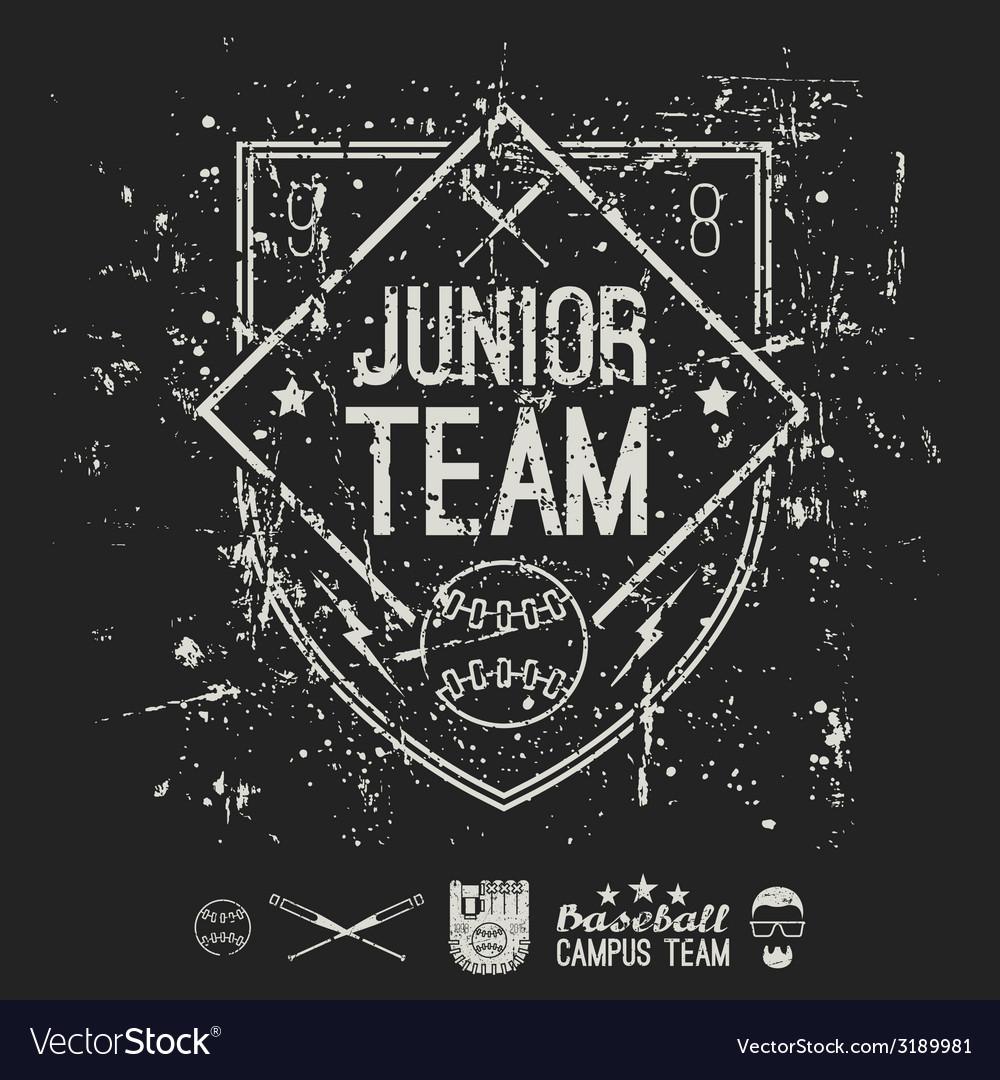 Emblem baseball junior college team vector | Price: 1 Credit (USD $1)