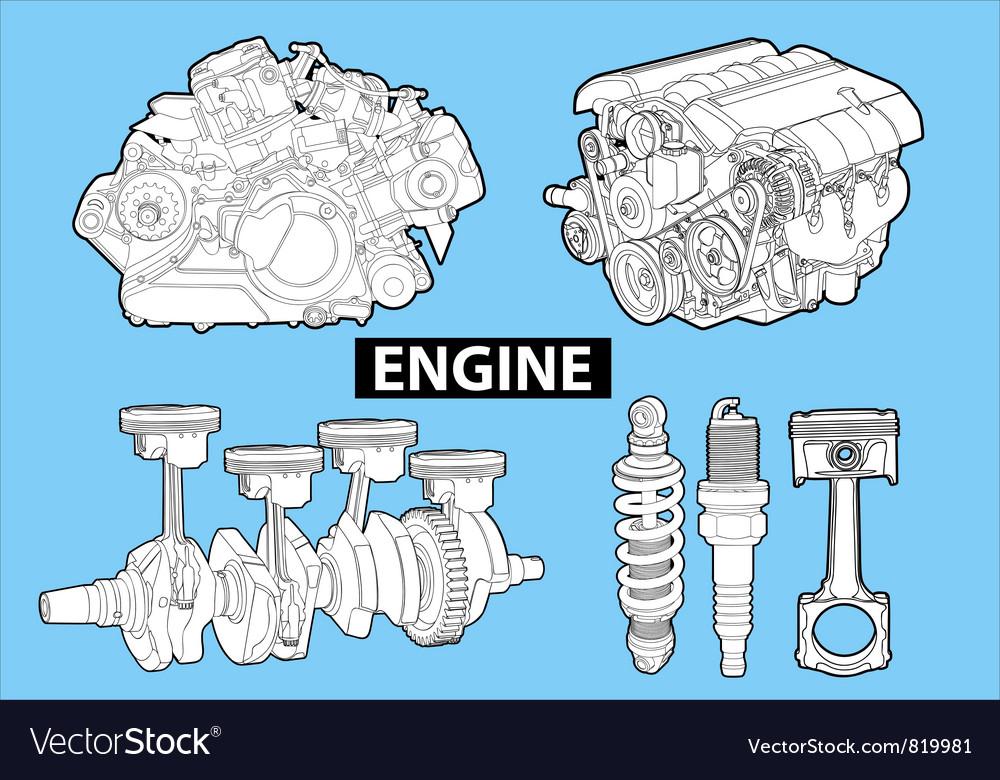 Engines vector | Price: 1 Credit (USD $1)