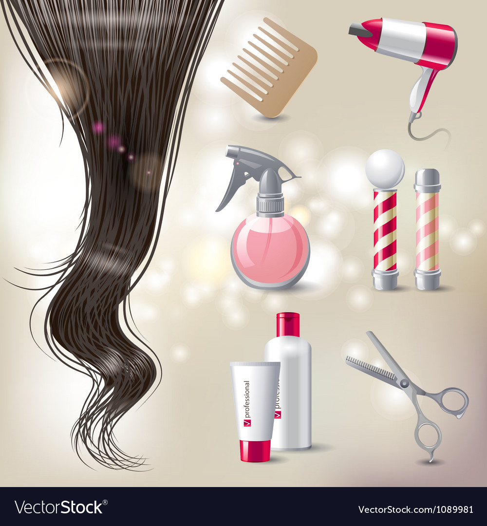 Hair care icons vector | Price: 5 Credit (USD $5)