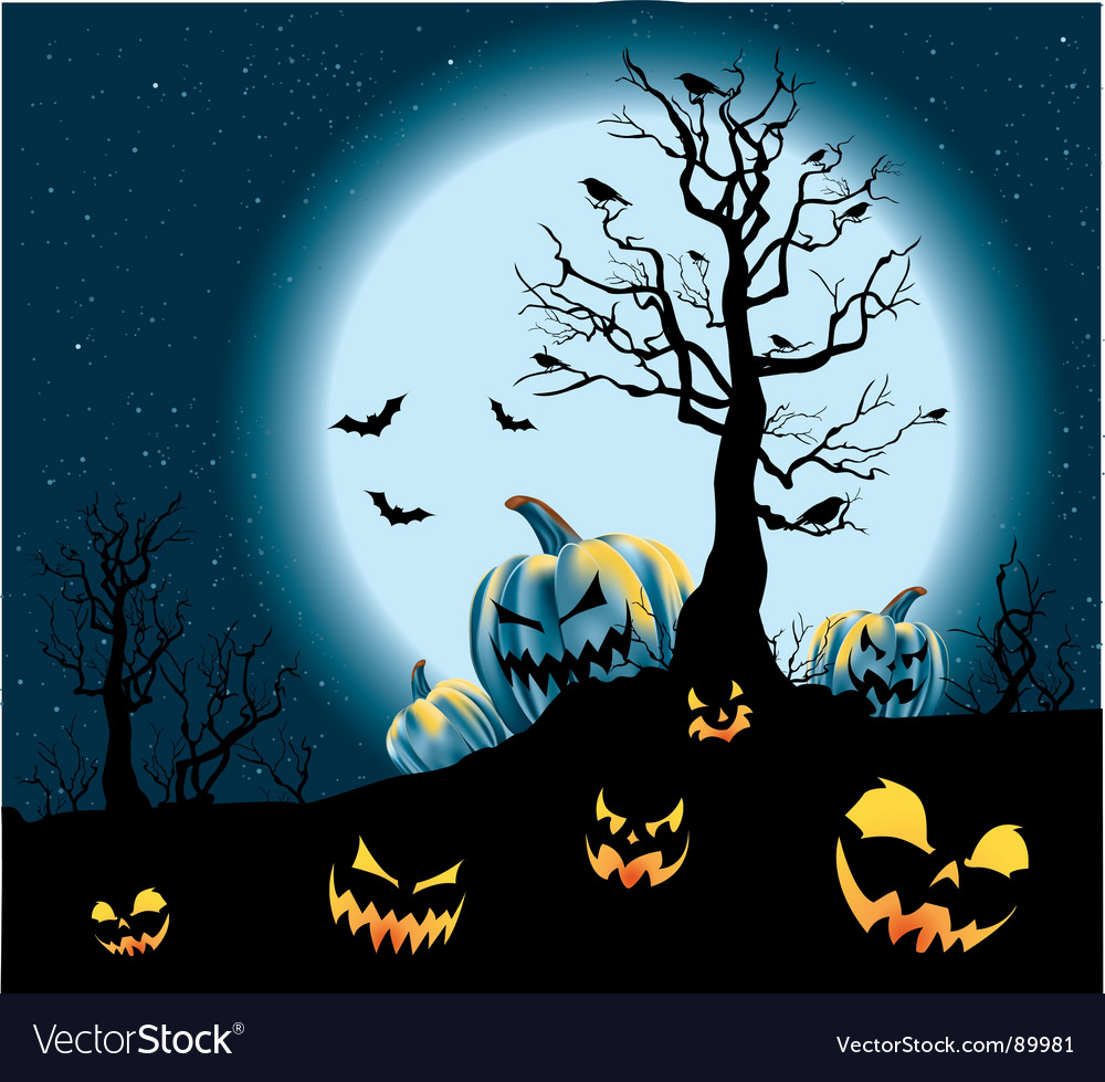 Halloween pumpkin patch vector | Price: 1 Credit (USD $1)