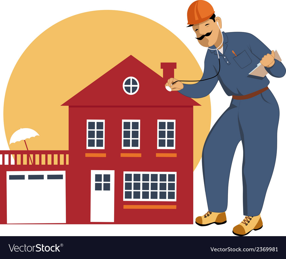 Home inspector vector | Price: 1 Credit (USD $1)