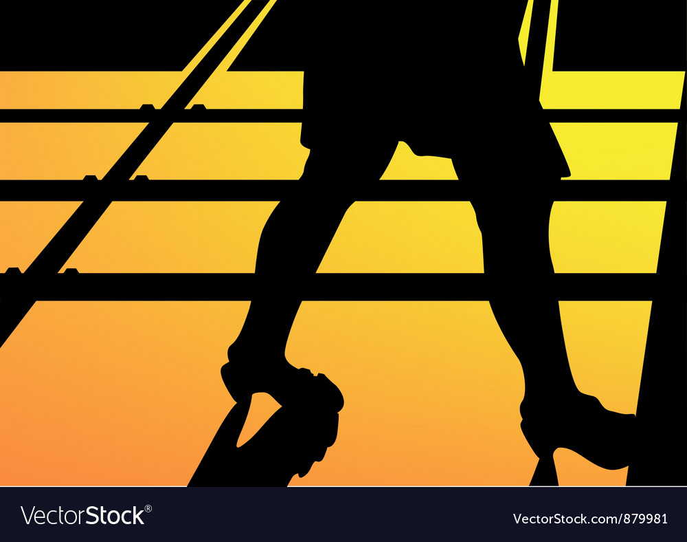 Leg walking woman silhouette vector | Price: 1 Credit (USD $1)