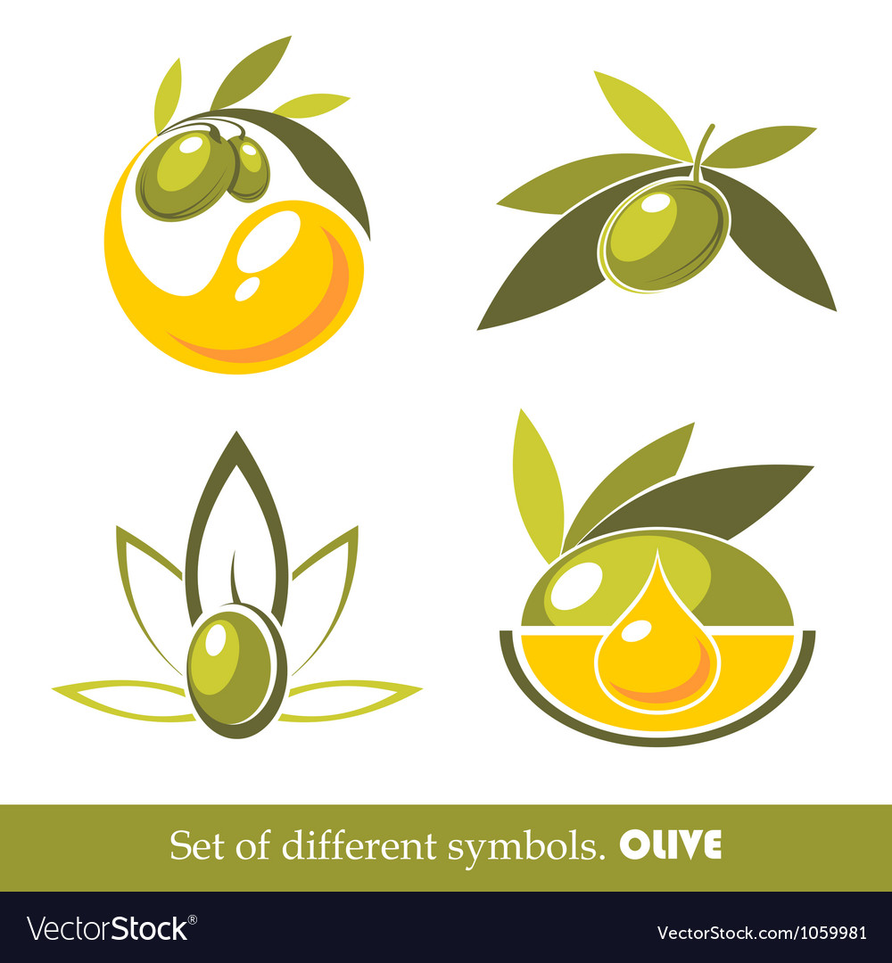 Olive icons vector | Price: 1 Credit (USD $1)