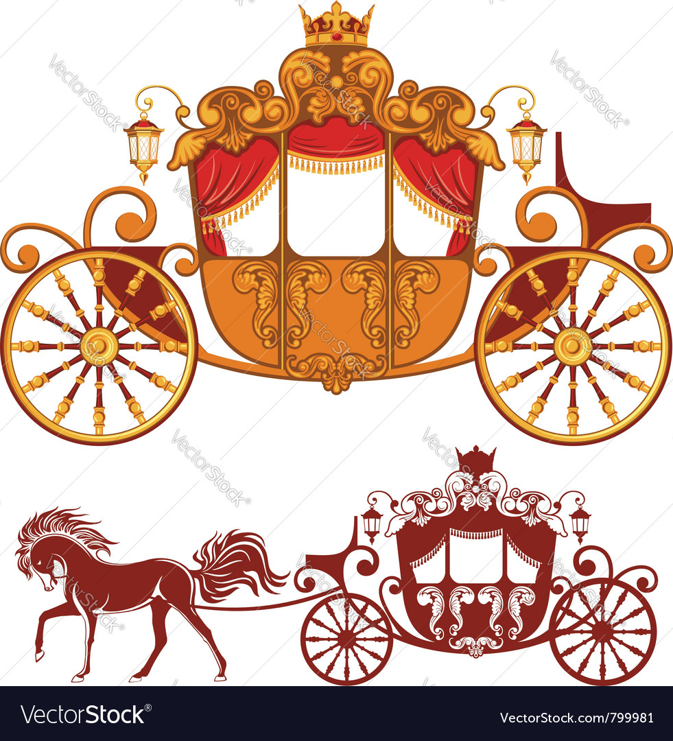 Royal carriage vector
